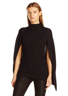 GUESS Women's Long Sleeve Gauge Mix Cape  L