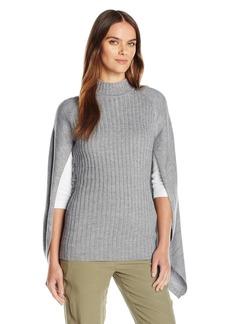 GUESS Women's Long Sleeve Gauge Mix Cape  M