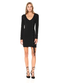 GUESS Women's Long Sleeve Genna Lace Up Dress