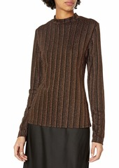GUESS Women's Long Sleeve Gille Mock Neck Top