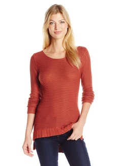Guess Women's Long Sleeve Glendolyn Rib Hi Low Tunic