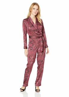 GUESS Women's Long Sleeve Hugh Jumpsuit  S