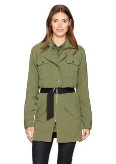 Guess Women's Long Sleeve Hunter Belted Jacket  L