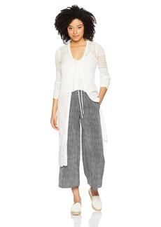 Guess Women's Long Sleeve Jane Crochet Sweater Sweater -whisper white M
