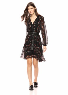 GUESS Women's Long Sleeve Jewel Dress  M
