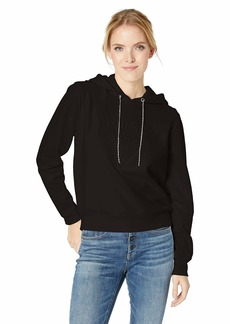 GUESS Women's Long Sleeve Jeweled String Logo Hoodie  M