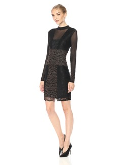Guess Women's Long Sleeve Jojo Lace Dress  X-Small