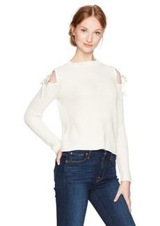 GUESS Women's Long Sleeve Karin Shoulder Tie Sweater