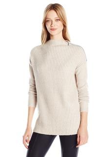 GUESS Women's Long Sleeve Kathryn Zip Sweater  S