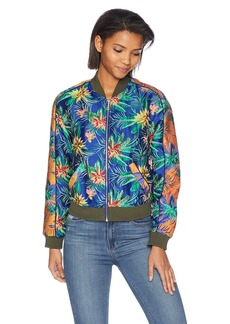 Guess Women's Long Sleeve Kato Jacket Outerwear -paradise jacquard multi S