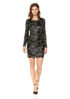 GUESS Women's Long Sleeve Klara Sequin Dress