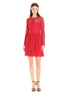 GUESS Women's Long Sleeve Lace Dress