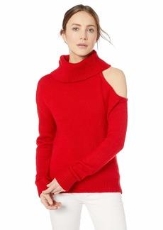 GUESS Women's Long Sleeve Lennox Shoulder Cutout Sweater Scarlett red M