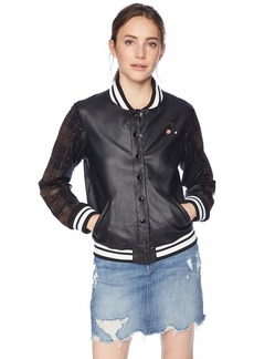 GUESS Women's Long Sleeve Lexia Varsity Jacket  M