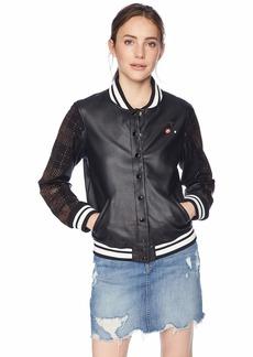 GUESS Women's Long Sleeve Lexia Varsity Jacket  XS