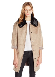 Guess Women's Long Sleeve Lisa Bonded Coat ilk ulti