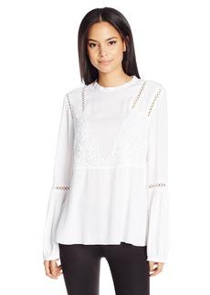 Guess Women's Long Sleeve Luscia Romantic Blouse