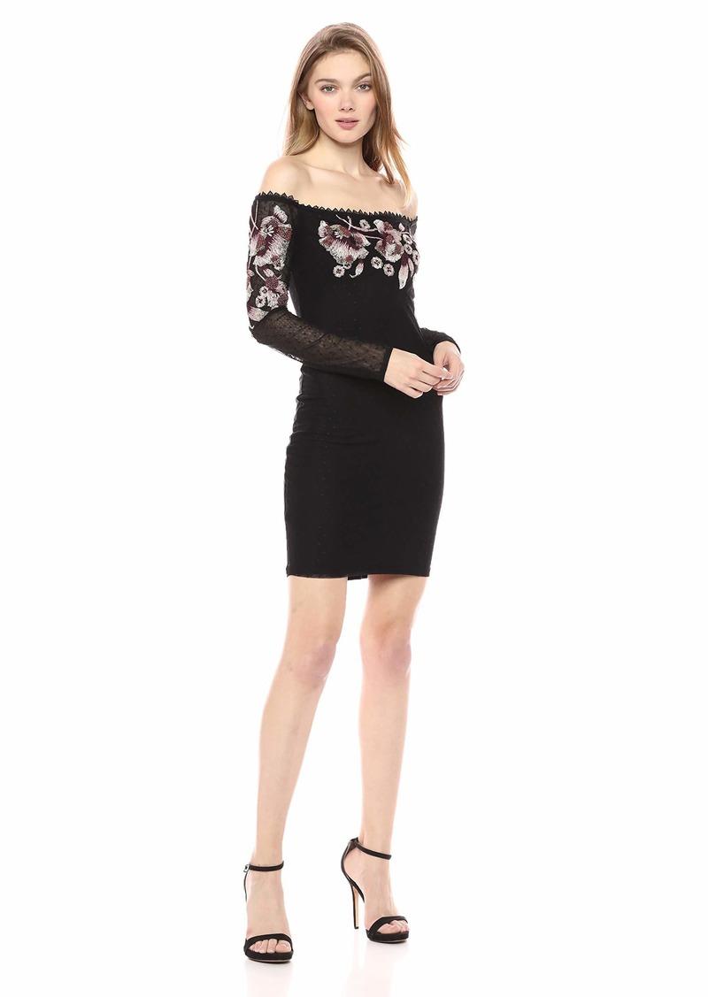 GUESS Women's Long Sleeve Luscious Dress  a XL