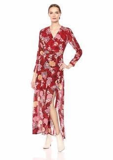 GUESS Women's Long Sleeve Maxi Dress