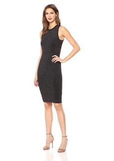 Guess Women's Long Sleeve Nathalie Lurex Lace up Dress  M