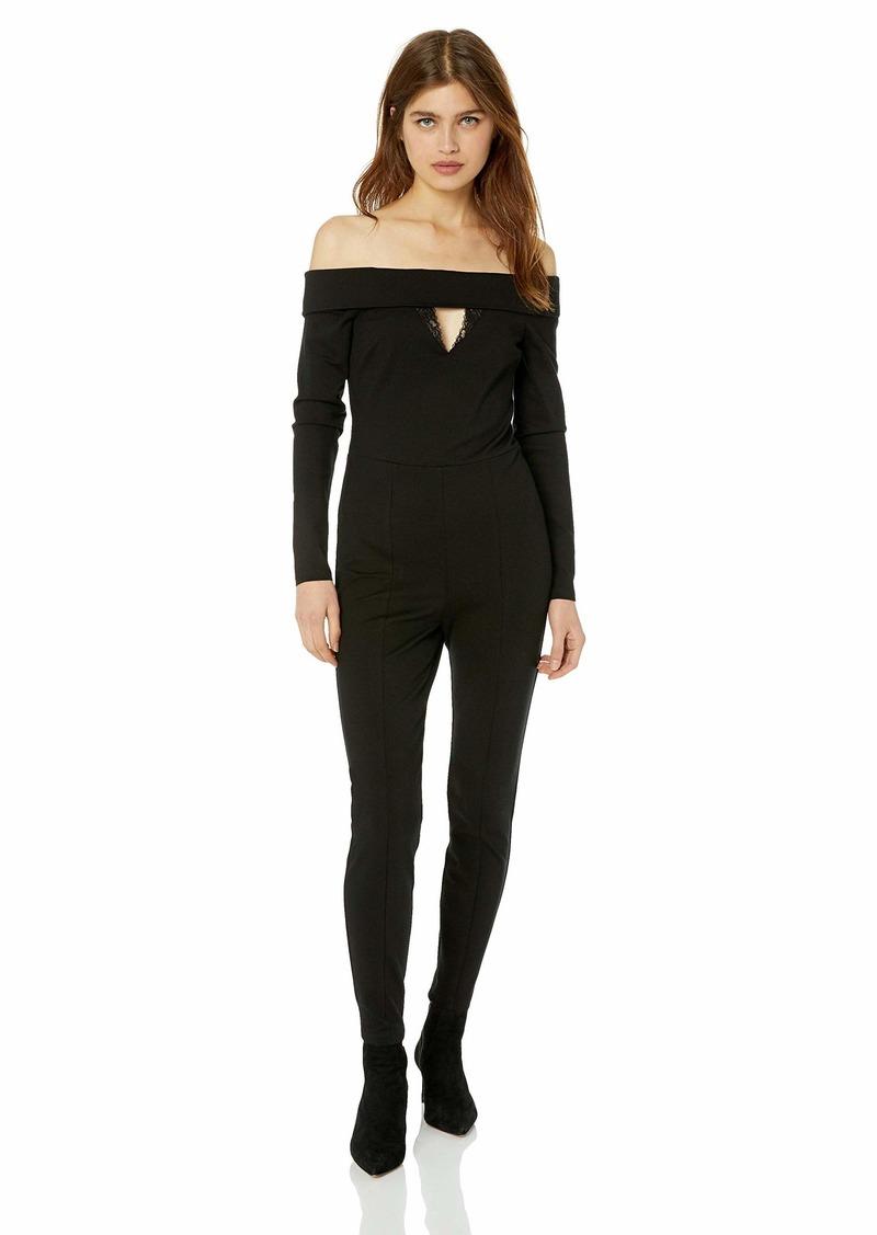 GUESS Women's Long Sleeve Off Shoulder Gigi Jumpsuit  S