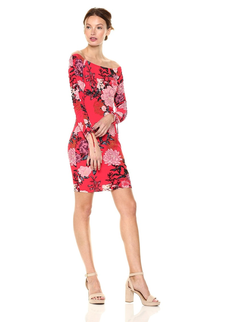 GUESS Women's Long Sleeve Off Shoulder Melania Dress  M