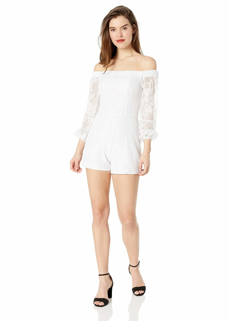 GUESS Women's Long Sleeve Off Shoulder MONTRESE Romper  M