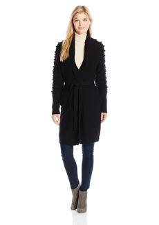 GUESS Women's Long Sleeve Olena Pom Coatigan  XL