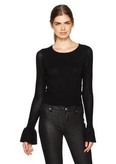 GUESS Women's Long Sleeve Olivia Mesh Stitch Sweater  a