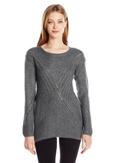 GUESS Women's Long Sleeve Patch Work Sweater  M