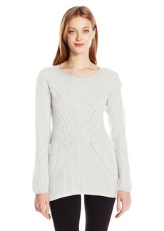 GUESS Women's Long Sleeve Patch Work Sweater  M