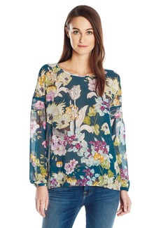 GUESS Women's Long Sleeve Remy Popover  L
