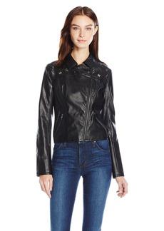 Guess Women's Long Sleeve Rona Moto Jacket  L R