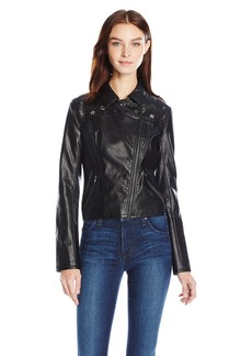 Guess Women's Long Sleeve Rona Moto Jacket  XS R