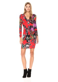 Guess Women's Long Sleeve Ruched Crosby Dress