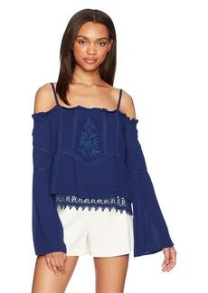 GUESS Women's Long Sleeve Rye Peasant Top