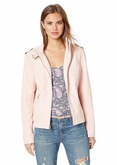 GUESS Women's Long Sleeve Sabrina Moto Jacket  XL