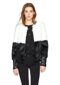 Guess Women's Long Sleeve Sammi Faux Fur Jacket  L