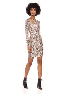 GUESS Women's Long Sleeve Sean Ring Dress  L