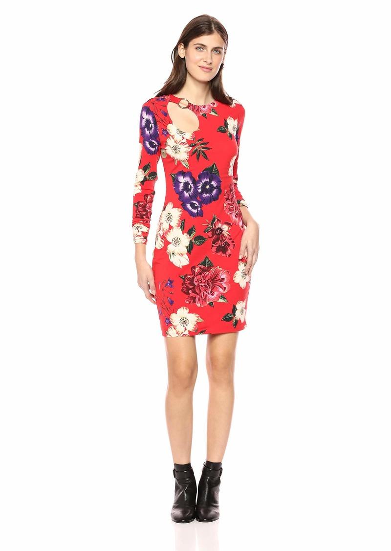 GUESS Women's Long Sleeve Sean Ring Dress  S