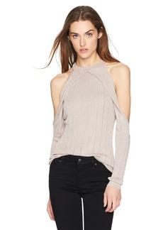 GUESS Women's Long Sleeve Sera Lurex Cold Shldr Sweater  M