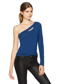 GUESS Women's Long Sleeve Shelbi One Shoulder Top
