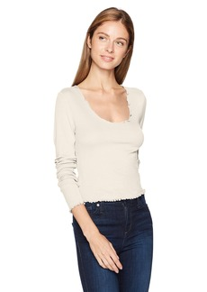 GUESS Women's Long Sleeve Sky Round Neck Top