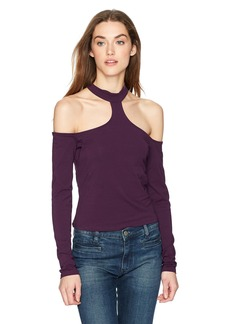 Guess Women's Long Sleeve Specta Choker Top  S