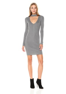 GUESS Women's Long Sleeve Teagan Cut Out Mock Neck Sweater Dress