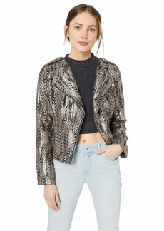 GUESS Women's Long Sleeve Teeya Gilded Jacket  XS