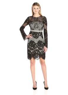 GUESS Women's Long Sleeve Valentina Lace Dress Jet Black A