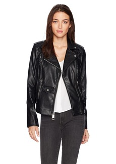 GUESS Women's Long Sleeve Virgo Moto Jacket  a M