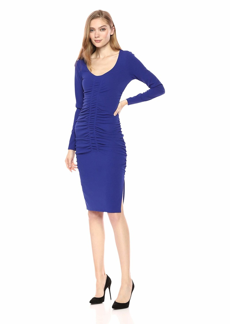 GUESS Women's Long Sleeve Vivica Dress Blue iris XS