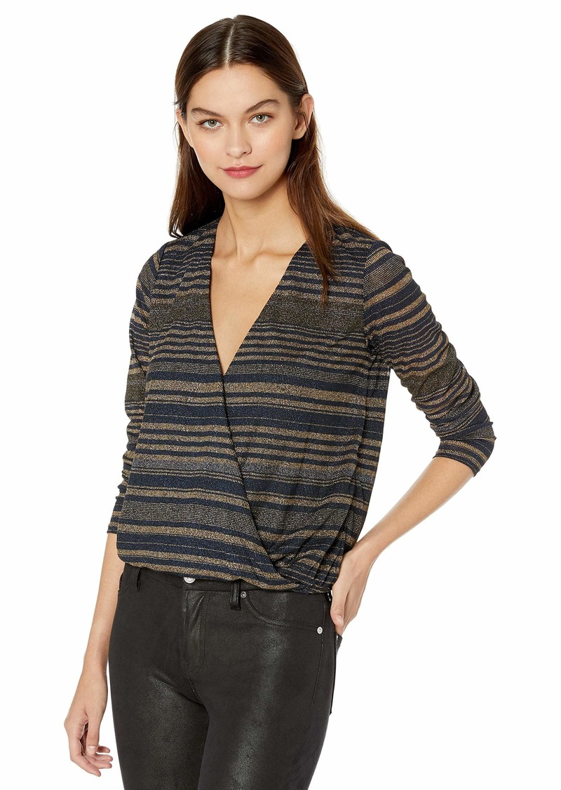 GUESS Women's Long Sleeve Vivienne Stripe Top  XL